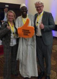 Energiegenossenschaft Starkenburg bei Bürgerenergiekongress vom 8.-10. November 2018 in Mali vertreten - Vorstandsmitglied Micha Jost präsentiert die ES bei internationaler Tagung