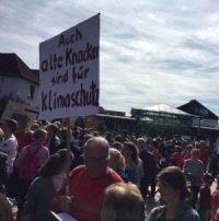 Energiegenossenschaft Starkenburg beim Klimastreik beteiligt– Infostand in der Bensheimer Innenstadt